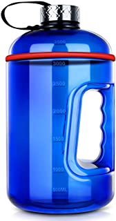CYNTHIA Gallon Water Bottle with Capacity Marker, Leak-Proof, Large 128oz,Wide Mouth, BPA Free Water Bottles for Leak-Proof Gym Bottle for Outdoor Camping(1 Gallon)(blue)