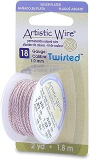 Artistic Wire Beadalon, 18 Gauge, Twist Round Rose Gold Color, 2 yd (1.8 m) Craft Wire, 2-Yards