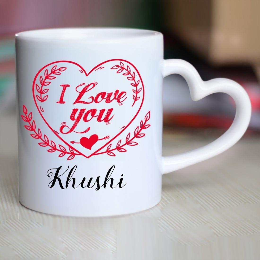 Buy Huppme I Love You Khushi Heart ...
