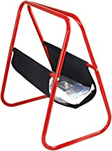 Iron And Fabric Magazine Rack, Red And Black