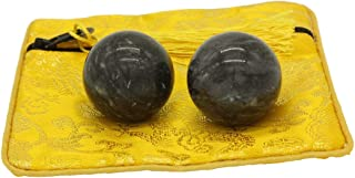 Dark Grey Jade Baoding Health Stress Exercise Balls Chinese Exercise Stress Balls Craft Collection (bag-packed-s)