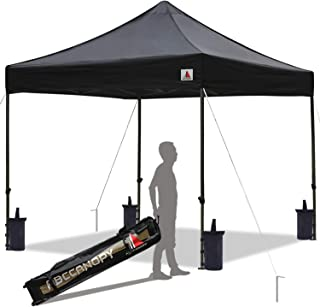 ABCCANOPY Pop up Canopy Tent Commercial Instant Shelter with Wheeled Carry Bag, Bonus 4 Canopy Sand Bags, 10x10 FT Black
