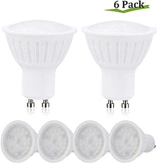 GU10 LED Bulbs 4000K Natural White,7W(65W Halogen Bulb Equivalent),GU10 Base,Non-Dimmable,700 Lumen,120V LED Flood Light Bulbs Indoor Recessed Track Lighting Downlight Small LED Spotlight - 6 Pack