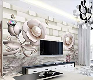 Wallpaper Wallpapers 3D Wallpaper Rose Water Wave Reflection Butterfly Pearl Decorative Wallpaper Kitchen Wallpaper Bathroom Wallpaper Bedroom Living Room Wallpaper