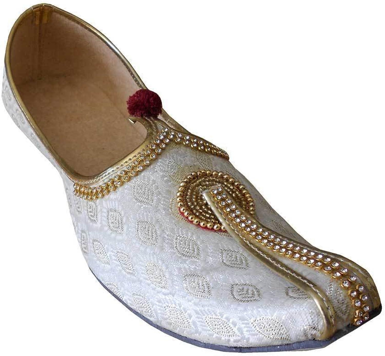 Kalra Creations Ethnic Indian Designer Wedding Men shoes Handmade Flip-Flops Khussa