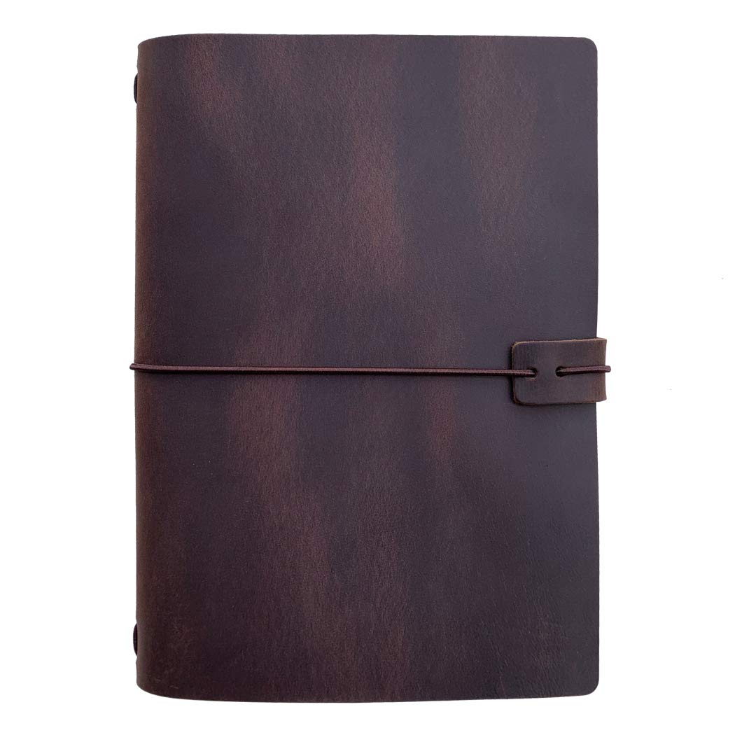 Newestor Travelers Carnet de notes Taille standard A5 marron foncé