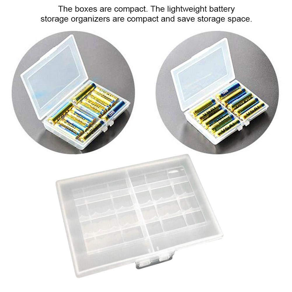 Caja de almacenamiento de batería para pilas AA AAA 128,52 cm: Amazon.es: Hogar