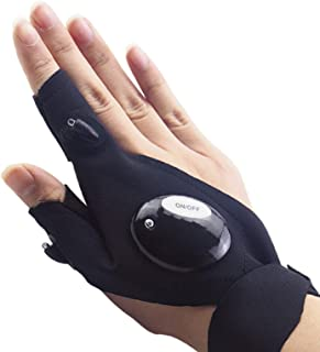 LED Flashlight Gloves, Men's Gifts for Dad Father, LED Gloves Unique Cool Gadget Tool Gifts for Men Dad Guys Christmas Gif...