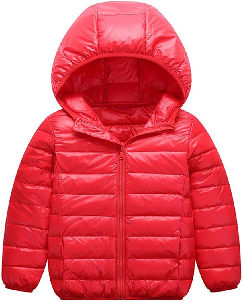 Premewish Baby Boys Girls Puffer Jacket Winter Hooded Coat Down Jacket Lightweight Warm Zipper Outerwear Outfits for Toddler Kids 12 Months-14 Years Old