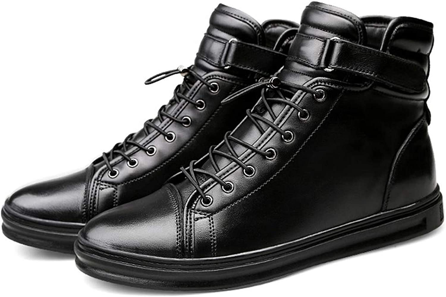 Fuze Men Cowhide Boots Genuine Soft Leather Boots Lace-Up Genuine Leather Men Ankle Boots