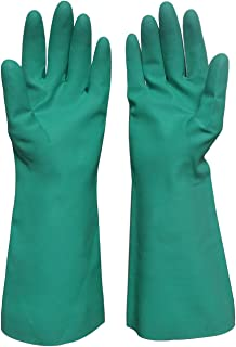 Durawell Household Cleaning Gloves, Latex-free Heavy Duty Nitrile Gloves with Chemical Resistance to Acid, Alkali and Oil (Large)