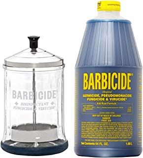 King Research Barbicide Disinfecting Jar Midsize 21oz + Disinfectant 64oz
