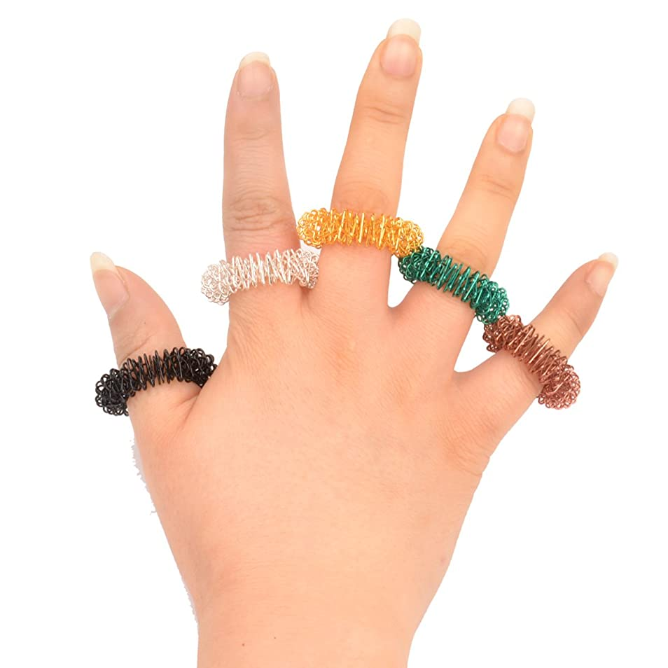 引き算折る守銭奴(Ckeyin) マッサージリング 5個入り 爪もみリング 色はランダムによって配送されます (5個)