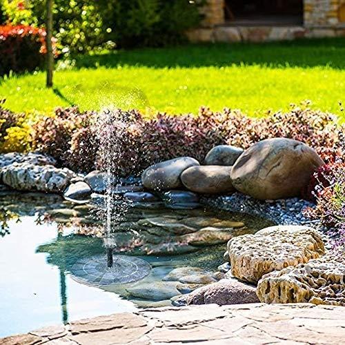 HZWLF Pond Garden Solarbrunnenpumpe 1,4 W Wasserschwimmplatte mit 4 Sprühköpfen für Verschiedene Wasserflüsse, für Vogelbad, Aquarium