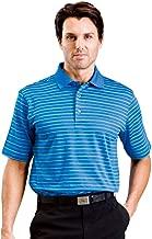 Monterey Club Mens Dry Swing Multi Textured Stripe Polo Shirt #1623