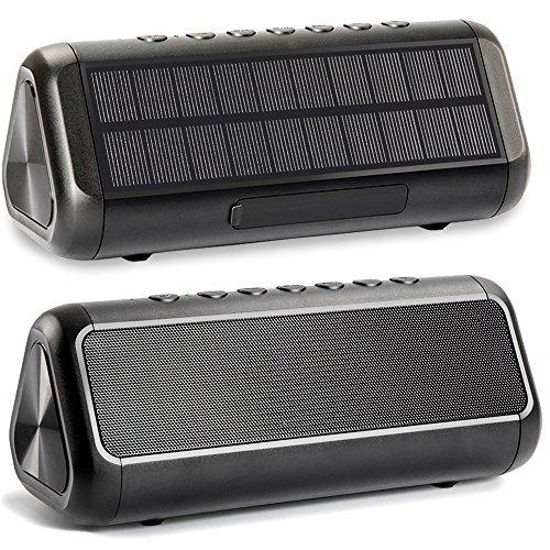 Altavoz Bluetooth Solar de 12 W, Altavoz inalámbrico portátil a Prueba de Agua IPX5 Capaz de Reproducir más de 50 Horas, batería incorporada de 5000 mAh, para Actividades en Interiores y Exteriores.