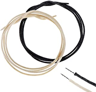Alnicov 3.3 Feet Pre-tinned Guitar Wire 22awg -22ga Cloth-covered Push Back Vintage-style Guitar Wire