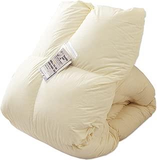 タンスのゲン 羽毛布団 シングルロング ホワイトダックダウン90% 日本製 7年長期保証 350dp(かさ高145mm) 以上 消臭抗菌 国内パワーアップ加工 CILシルバーラベル ベージュ 10119001 88AM 【65295】