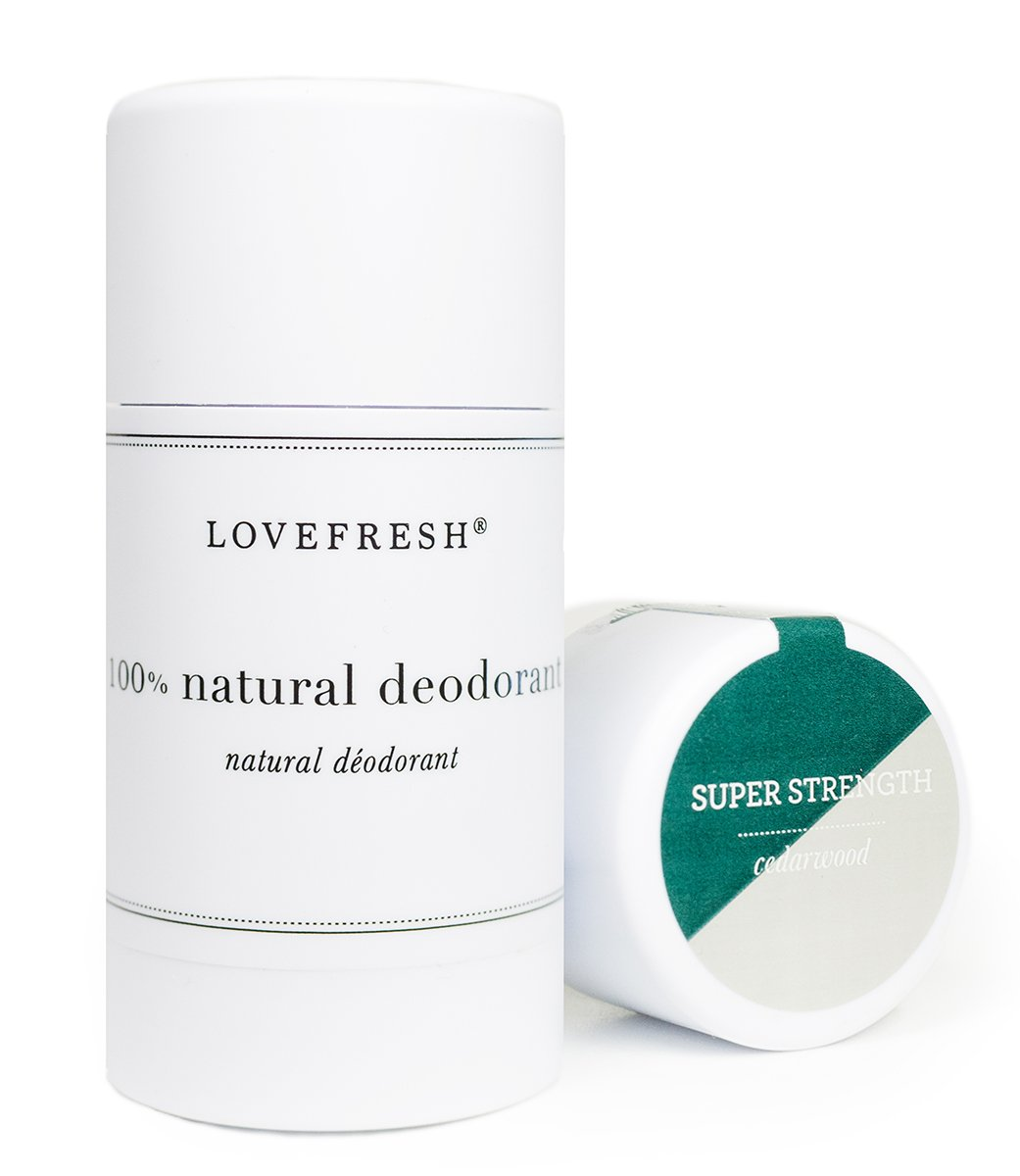 Amazon.com : Lovefresh - Natural Super Strength Deodorant | Aluminum Free  (Cedar & Saffron) (3.7 oz) : Beauty & Personal Care