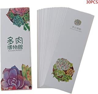 Cher9 30pcs Creative Chinese Style Paper Different Design Bookmarks Painting Cards Retro Beautiful Boxed Book Markers Best Gifts