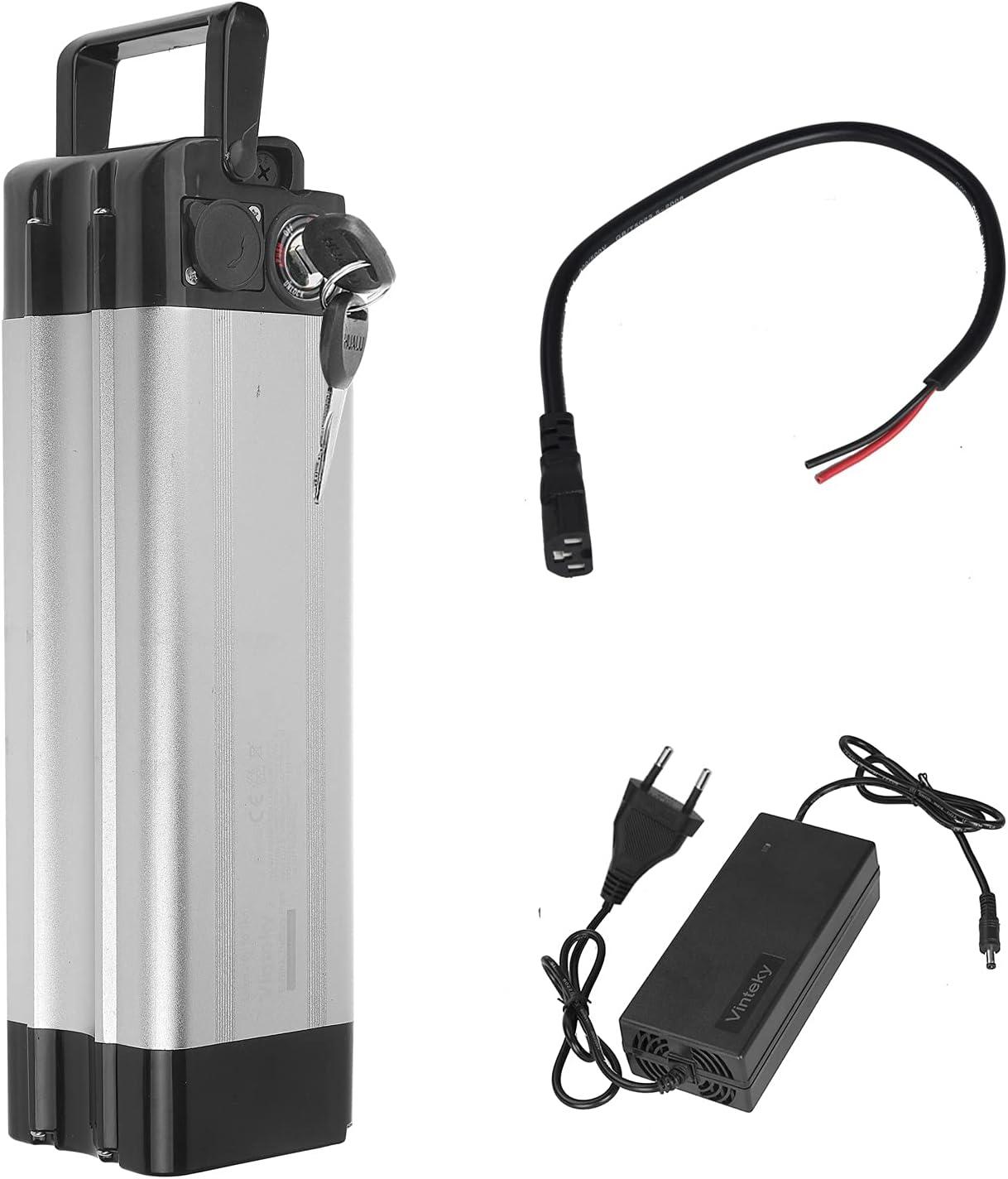 Vinteky Ebike Battery 24V 15AH Batería para Bicicleta de Iones de Litio con Cargador y Soporte