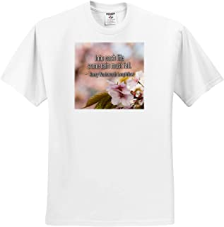 Goethe Quote Enjoy When You can Quotes About Life Sakura Cherry Flowers T-Shirts and Endure 3dRose Alexis Design