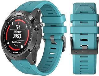 Men's Band Replacement for Garmin Fenix 3/Fenix 3 HR/Fenix 5X/Fenix 5X Plus Smart Watch, Quick Release Strap