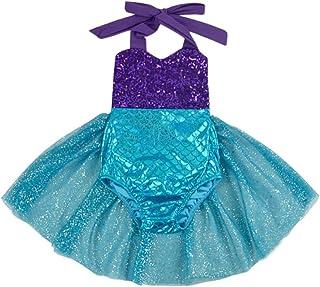 Carkoo Baby Girls One Piece Swimsuit Cute Swan Bathing Suit Tutu Dress Swimwear