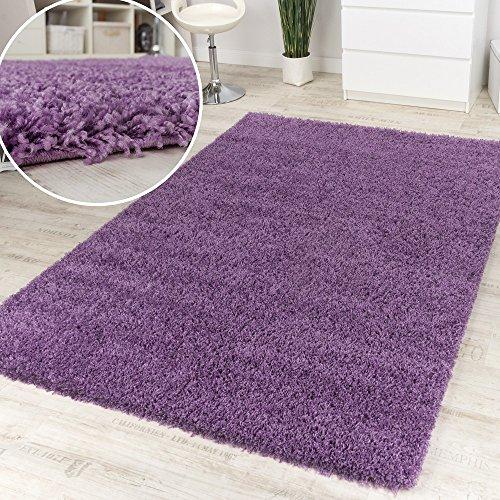 Paco Home Shaggy Lila Hochflor Langflor Teppich Hochflor Teppich Ausverkauf Hammer Preis, Grösse:120x160 cm