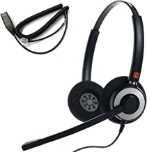 $70 » IPD IPH-165 Binaural Noise Canceling,Corded Headset wit HIS-02 Cable for Avaya IP 1608,1616,9608G, 9611G, 9610, 9620, 9620...