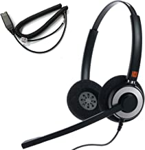 IPD IPH-165 Binaural Noise Canceling,Corded Headset wit HIS-02 Cable for Avaya IP 16XX and 96xx IP Phones