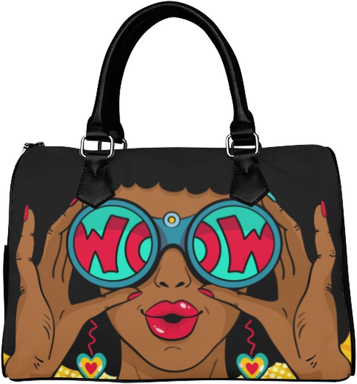 Yourfantasia Wow Pop Art Female Face Boston Bag Handbag