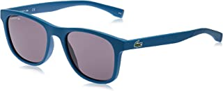 Lacoste Rectangular Sport Inspired Matte Blue Sunglasses For Men 53-19-145mm
