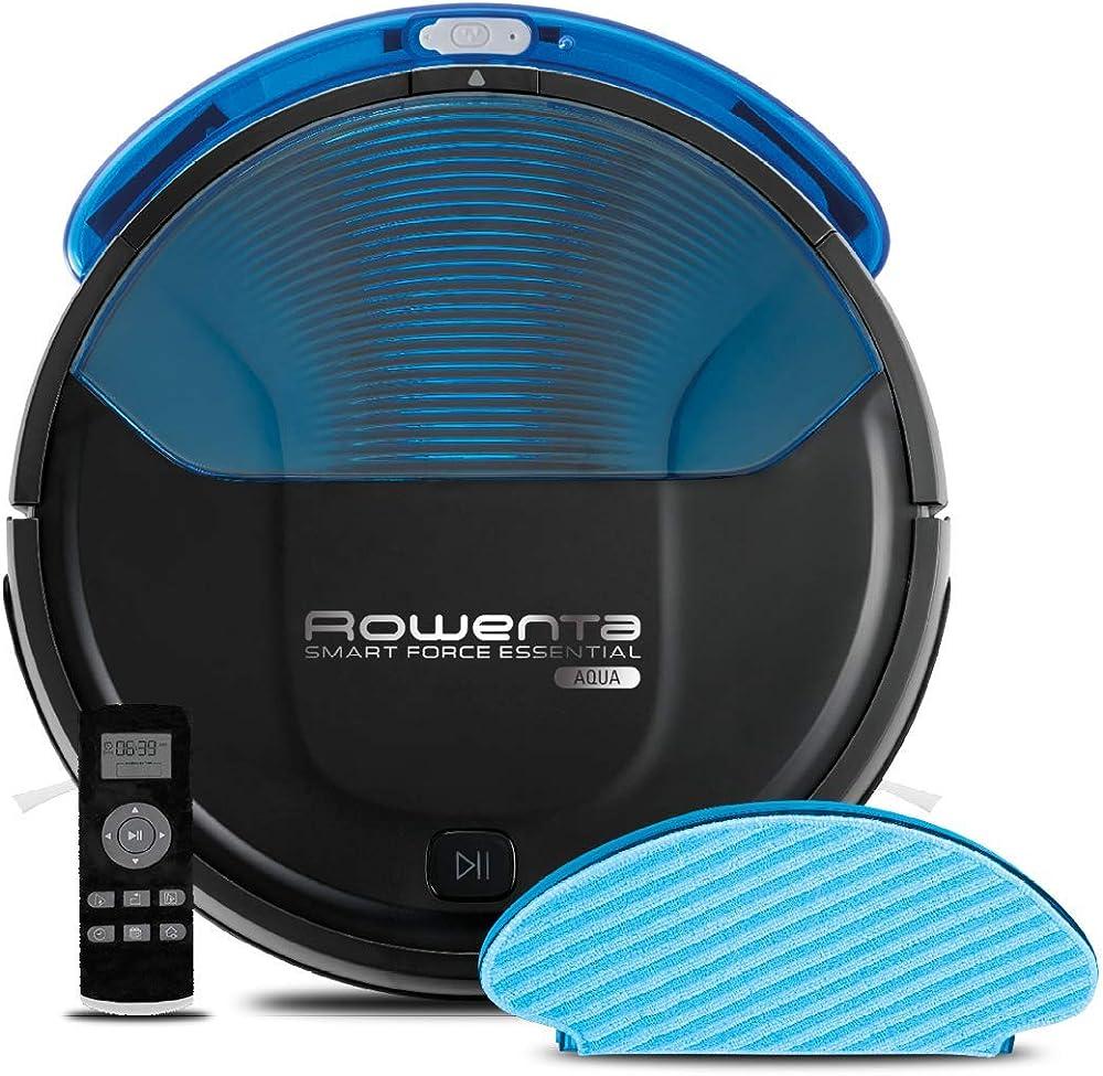 Rowenta smart force essential aqua, robot aspirapolvere con funzione lavapavimenti RR6971