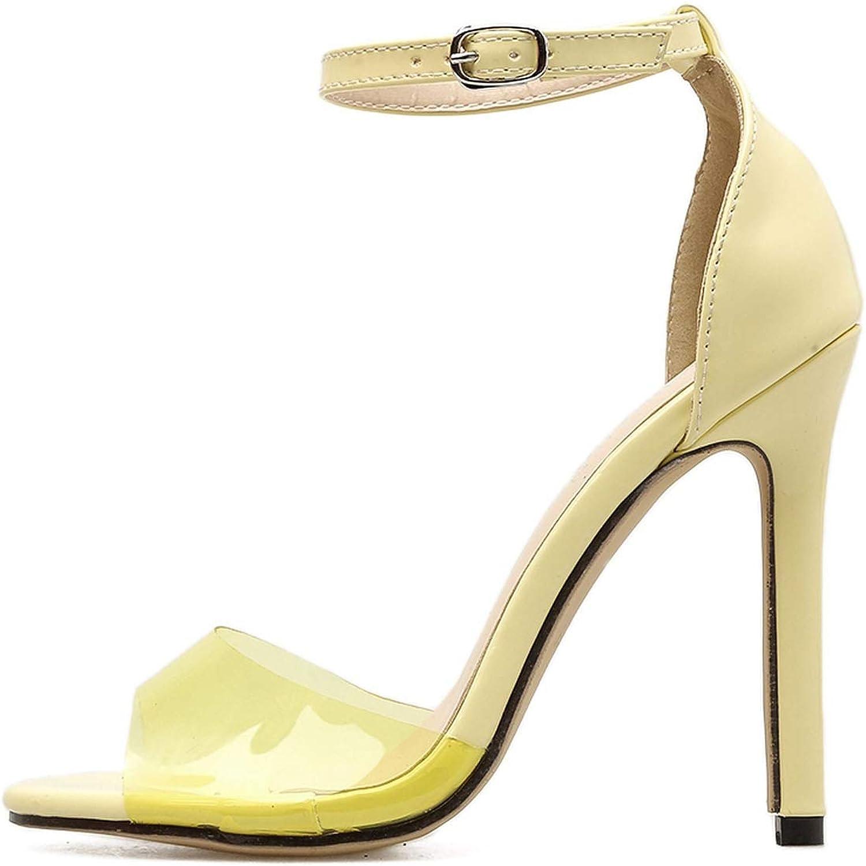 Ankle Strap Heels Women Sandals Summer shoes Women Rome Style Transparent Peep Toe High Heel