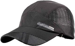 Bobury Verano Transpirable Gorra de béisbol Gorra de Secado rápido del Deporte Sombreros para Hombres