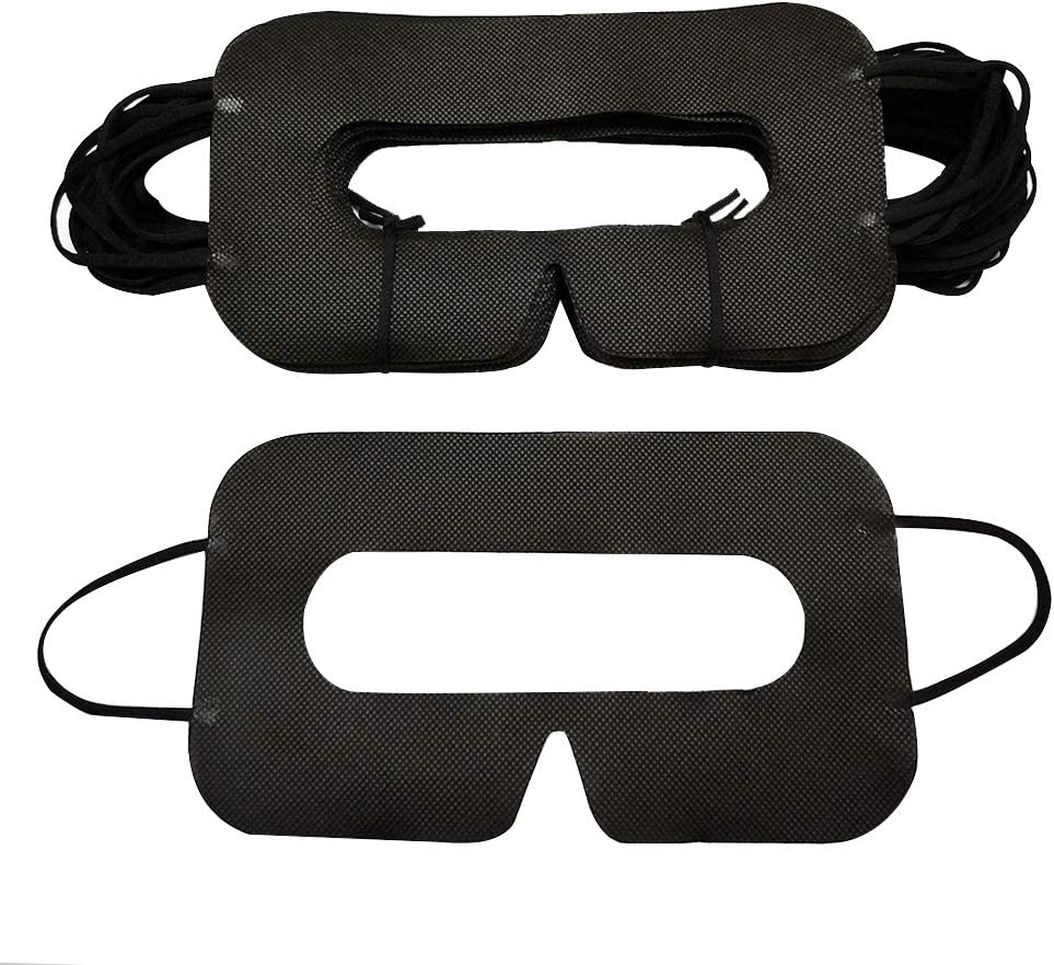 YinQin Universal Disposable VR Mask 50 PCS VR Eye Cover Mask for VR, VR Sanitary Mask, VR Eye Mask Cover, VR Sanitary Disposable Mask for VR (Black)