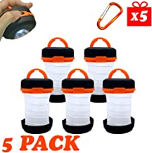 5 Pack Collapsible Flashlight Lantern - Portable LED...