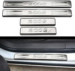 N//A 4 Pezzi Car Battitacco Protezione Acciaio Inox Soglia della Porta per Subaru XV 2018 2019 Auto Portiera Scuff Guard Plate Sill Esterno Adesivi Davanzale Accessori Styling