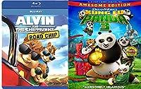 Alvin & the Chipmunks: The Road Chip & Kung Fu Panda part 3 Blu Ray Animated Bundle Cartoons movie Set