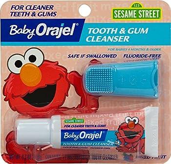 Orajel Baby Elmo Tooth & Gum Cleanser With Finger Brush 0.7Oz