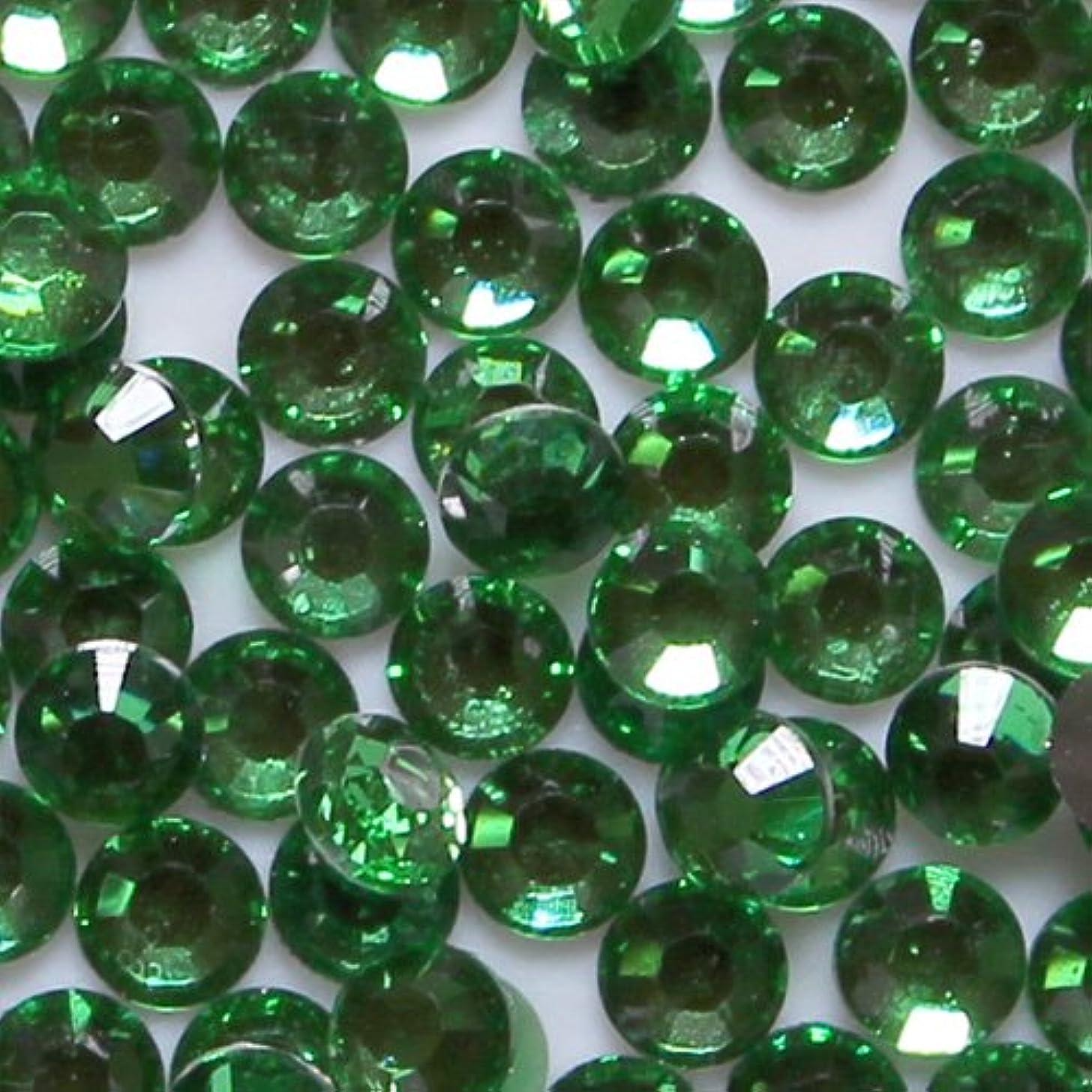 フレキシブル固有の句高品質 アクリルストーン ラインストーン ラウンドフラット 約1000粒入り 3mm グリーントルマリン