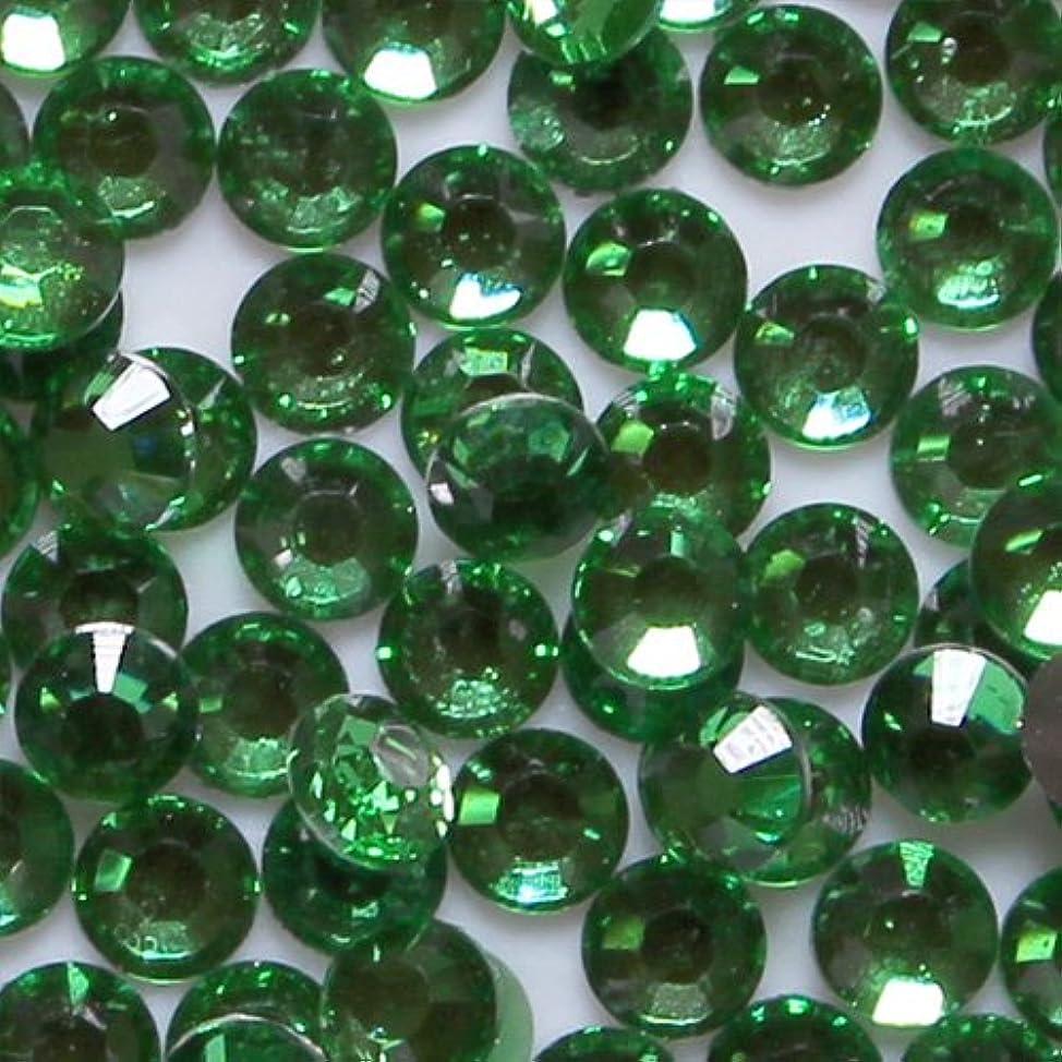 フリーストラフスピン高品質 アクリルストーン ラインストーン ラウンドフラット 約1000粒入り 4mm グリーントルマリン