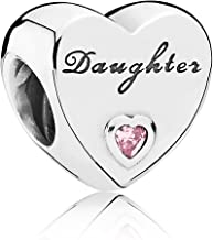 PANDORA Daughter'S Love Charm, Sterling Silver, Pink Cubic Zirconia, One Size