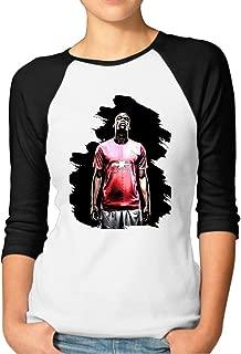 Paul Pogba Football Player Women's Cool 100% Cotton 3/4 Sleeve Athletic Baseball Raglan Sleeves T-Shirt