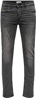 Only & Sons heren Slim Jeans Onsloom Black Washed Dcc 0447 Noos