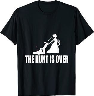 Mariage La chasse est terminée Cadeau de mariage Couple de T-Shirt