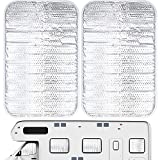 2 Pieces RV Door Window Cover Shade Reflective Window Shade Foldable UV Protection Sun Shade Accessory Privacy Screen Window Cover for Motorhome, Travel Trailer, and Camper (24.8 x 15.7 inch)