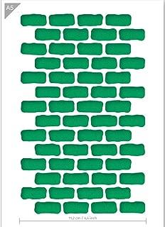 Brick Wall Pattern Stencil - Card QBIX Brick Stencil - Brick Wall Stencil - Bricks Pattern - Rectangle Pattern - Pattern Stencil - A5 Size - Reusable Kids Friendly DIY Stencil for Painting, Baking, Cr