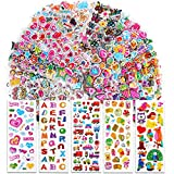 VINFUTUR 50 Hojas Pegatinas Infantiles 3D Pegatinas Hinchadas Adhesivas de Diseños Surtidos Sticker Puffy para Decoración Scrapbooking Álbum Recorte Manualidad DIY Regalo